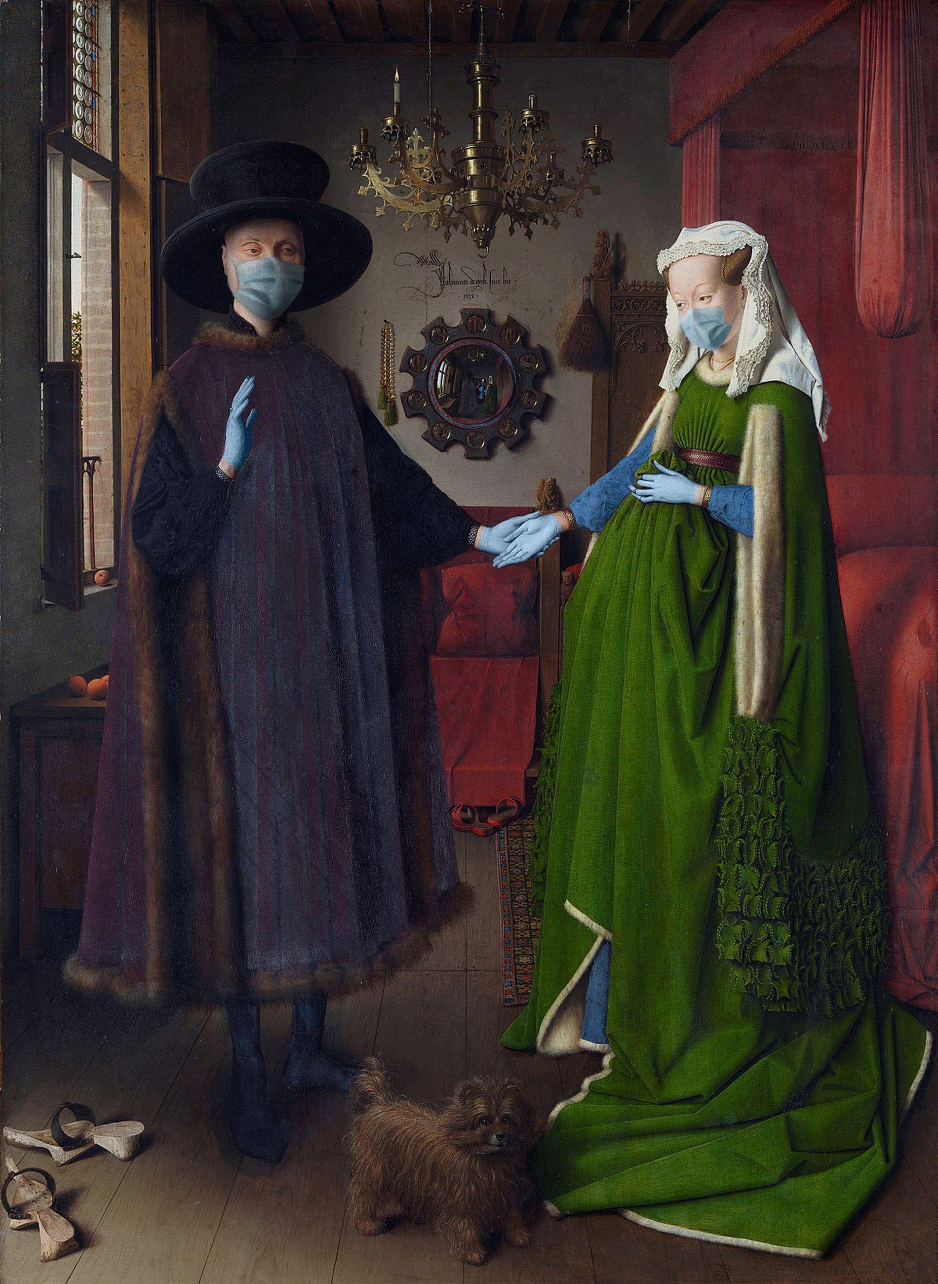 Retrato de Giovanni Arnolfini y su esposa / Jan van Eyck/POA Estudio