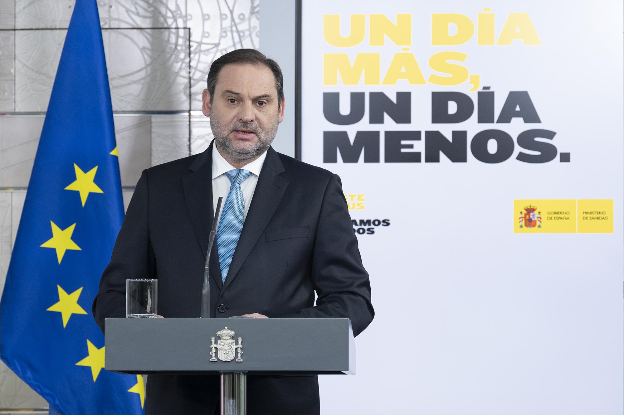 José Luis Ábalos, ministro de Transportes, Movilidad y Agenda Urbana / La Moncloa