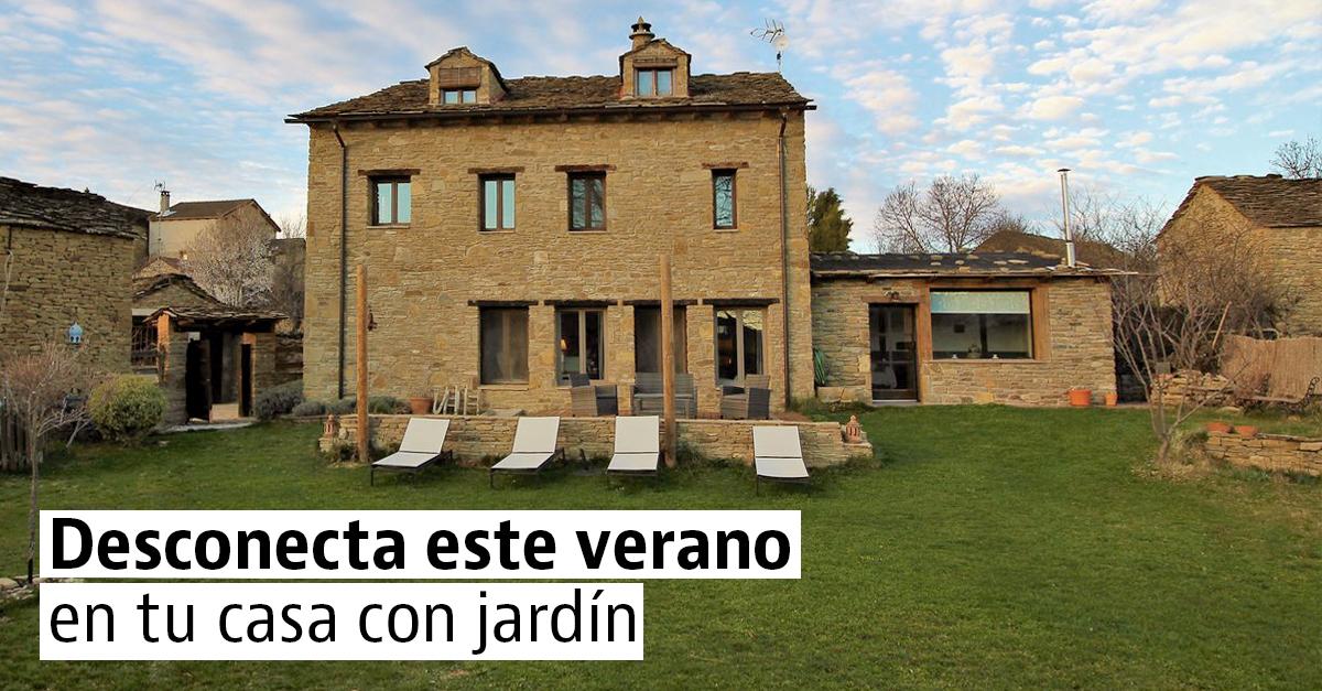 Casas con jardines bonitos