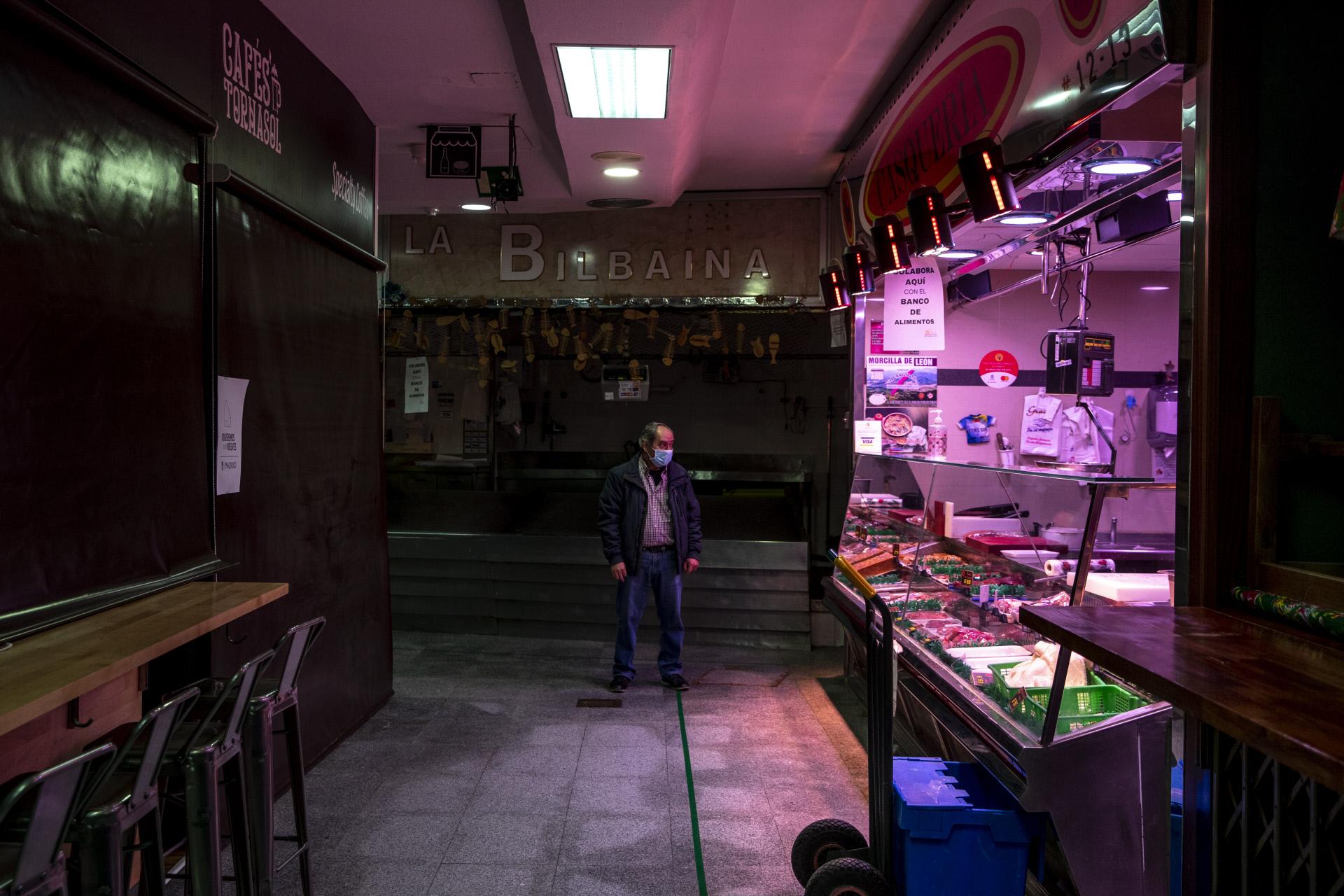 Un mercado de Madrid, semicerrado / Gtres
