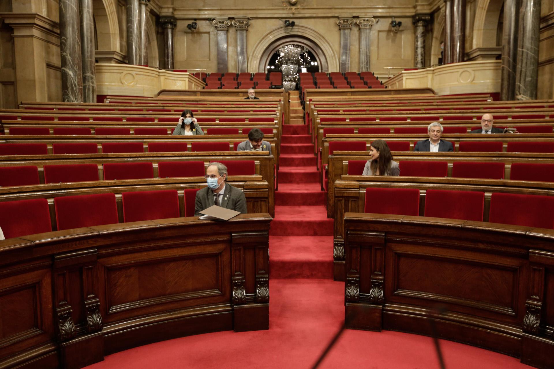 Quim Torra en el Parlamento de Cataluña / Gtres