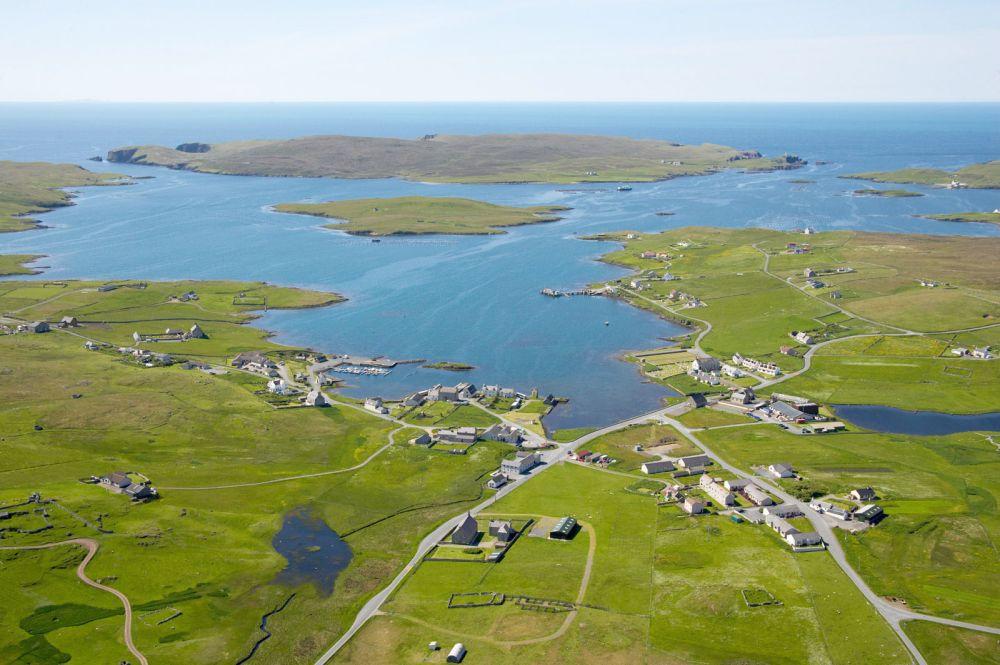 Vista general de islas Shetland / Vladi Private Islands