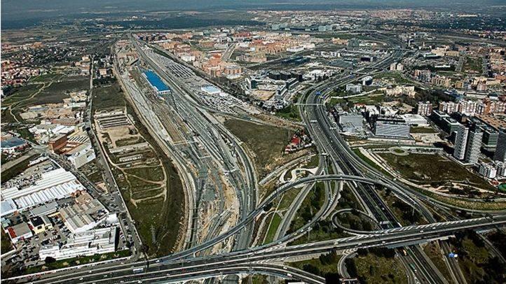 Imagen aérea del Nudo Norte de Madrid.  / Distrito Castellana Norte