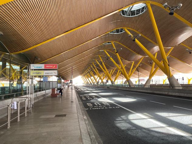 Imagen del aeropuerto de Madrid durante la crisis del covid-19