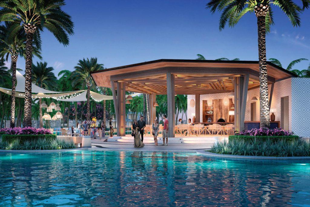 Una de las tres piscinas / Conrad Punta de Mita