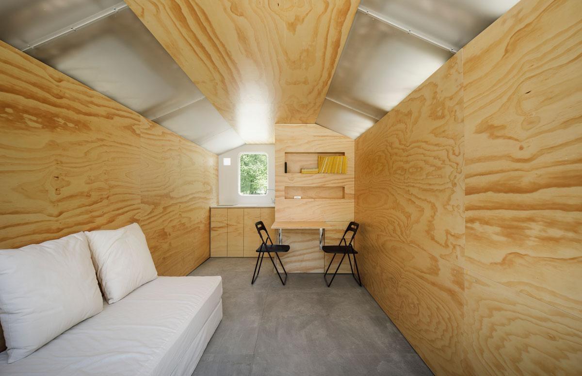 Imagen del interior de uno de los refugios / Surciatta Systems