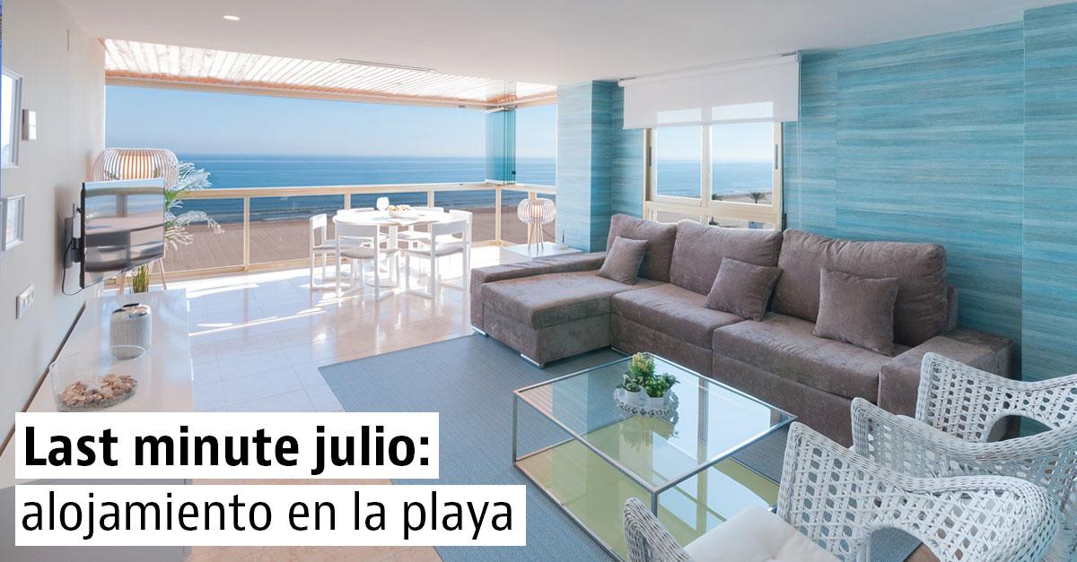 Alojamiento de última hora para disfrutar de la playa en julio