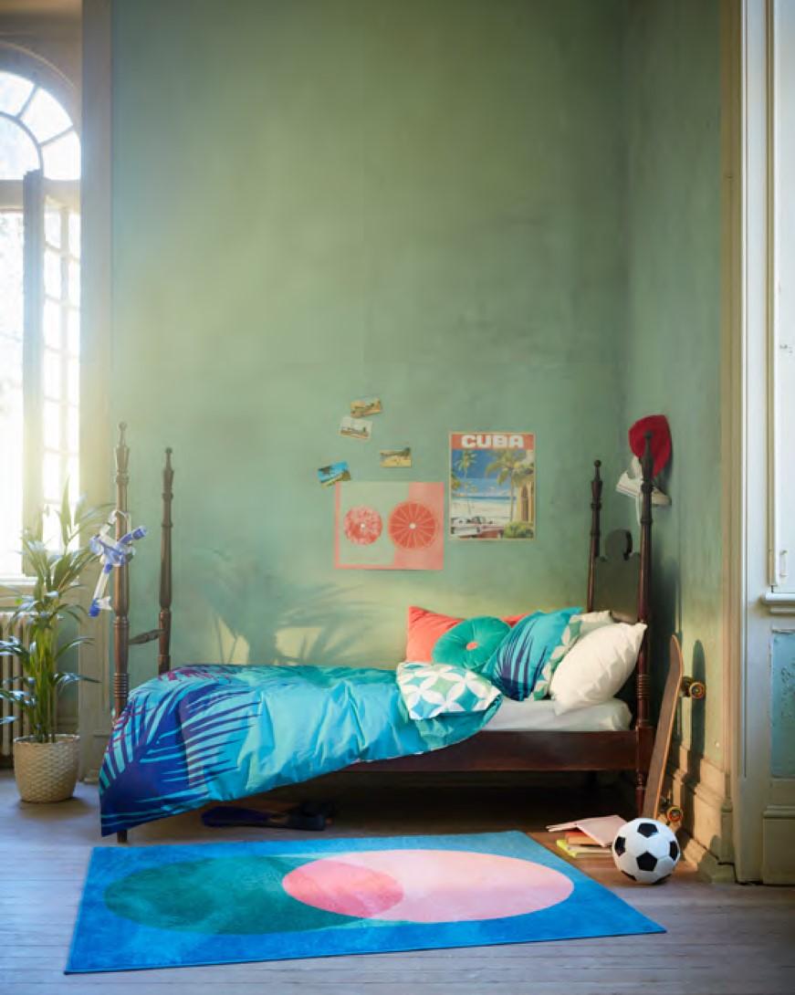 La gama de GRACIÖS incluye fundas de edredón, alfombras, fundas de cojín y un cojín / Ikea