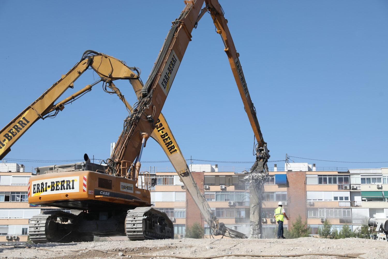 Imagen de los últimos trabajos de demolición del Vicente Calderón / Ayuntamiento de Madrid