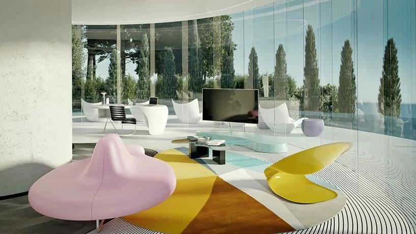 Salón interior / Karim Rashid