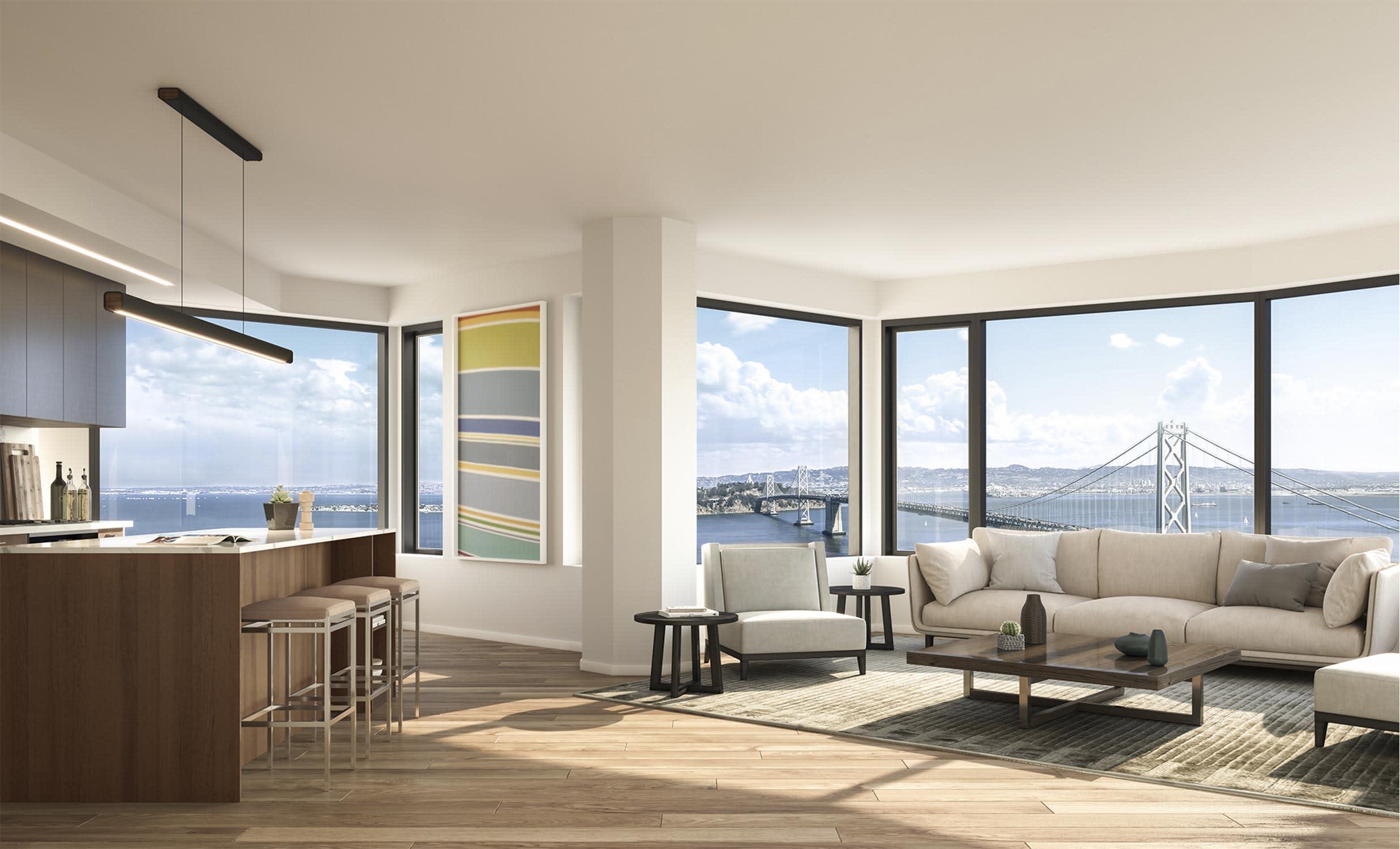 Espacio abierto y con ventanales para disfrutar las vistas