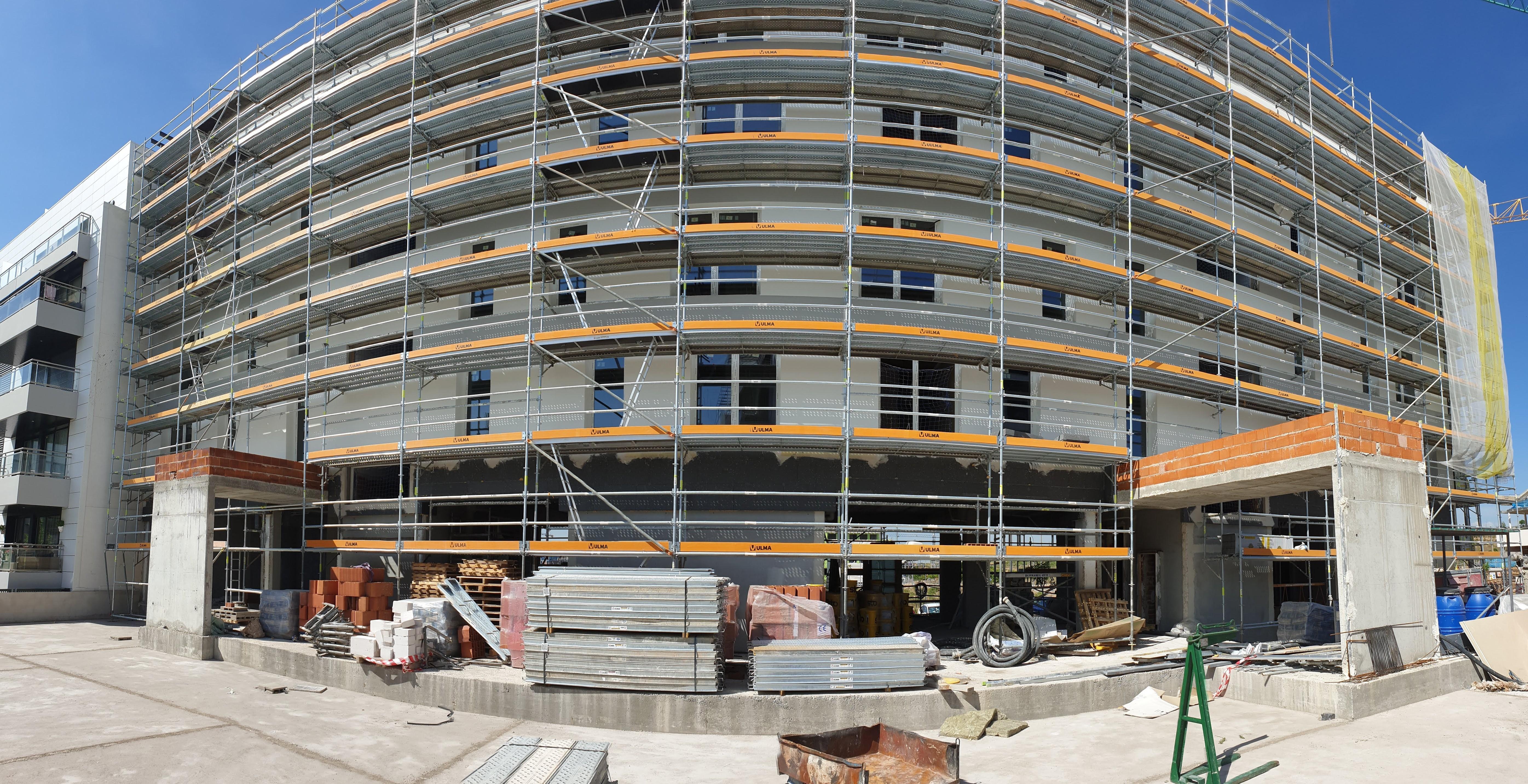 Fachada durante la construcción / DMDV Arquitectos/Landevel ArroyoFresno