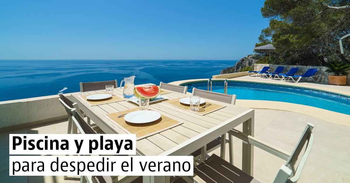 15 casas con piscina para el último chapuzón del verano