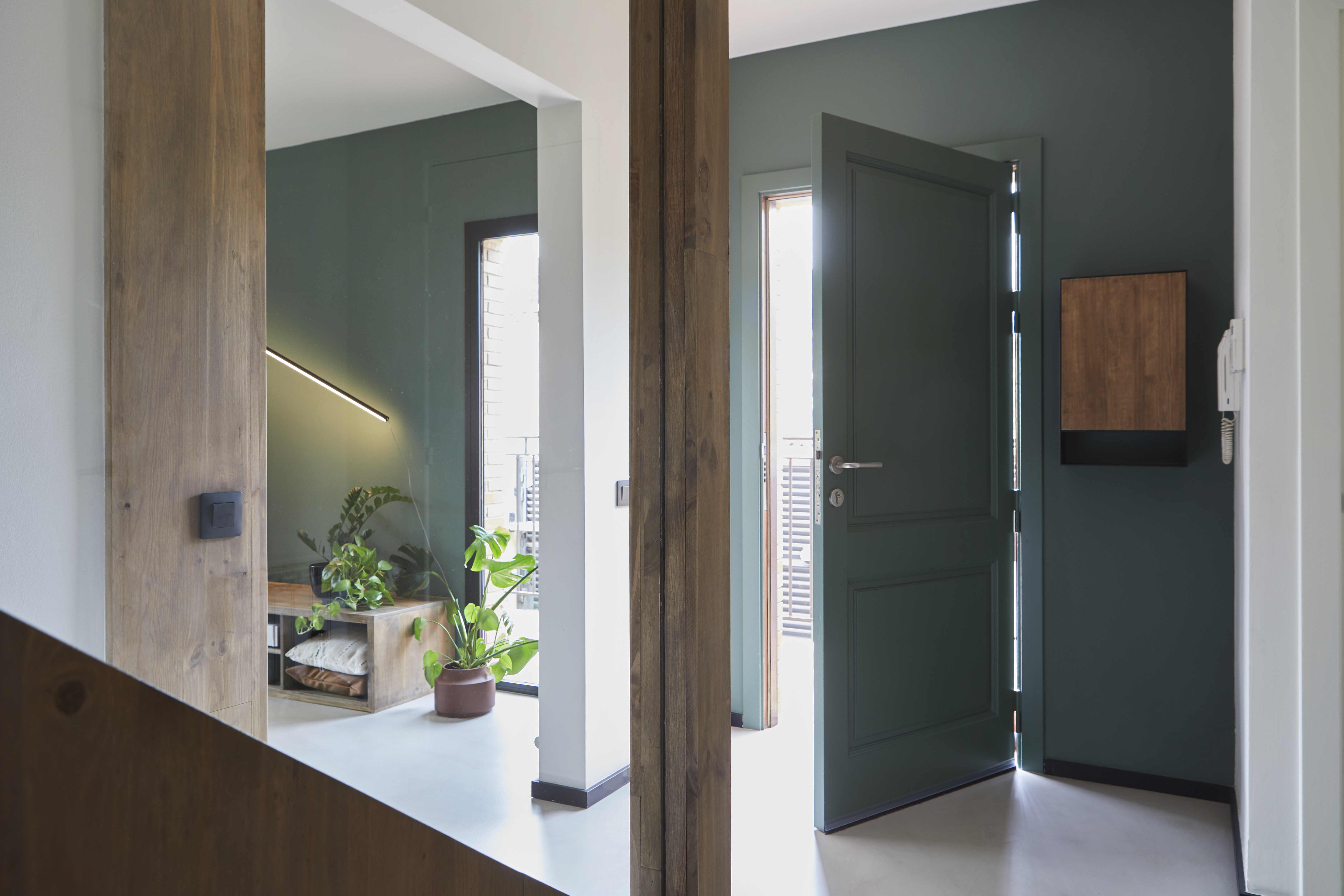 La puerta, también verde