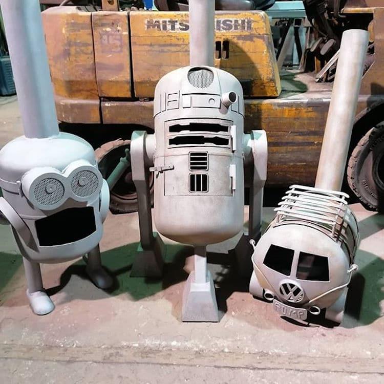 Miniversiones de Minions, R2-D2 y VW