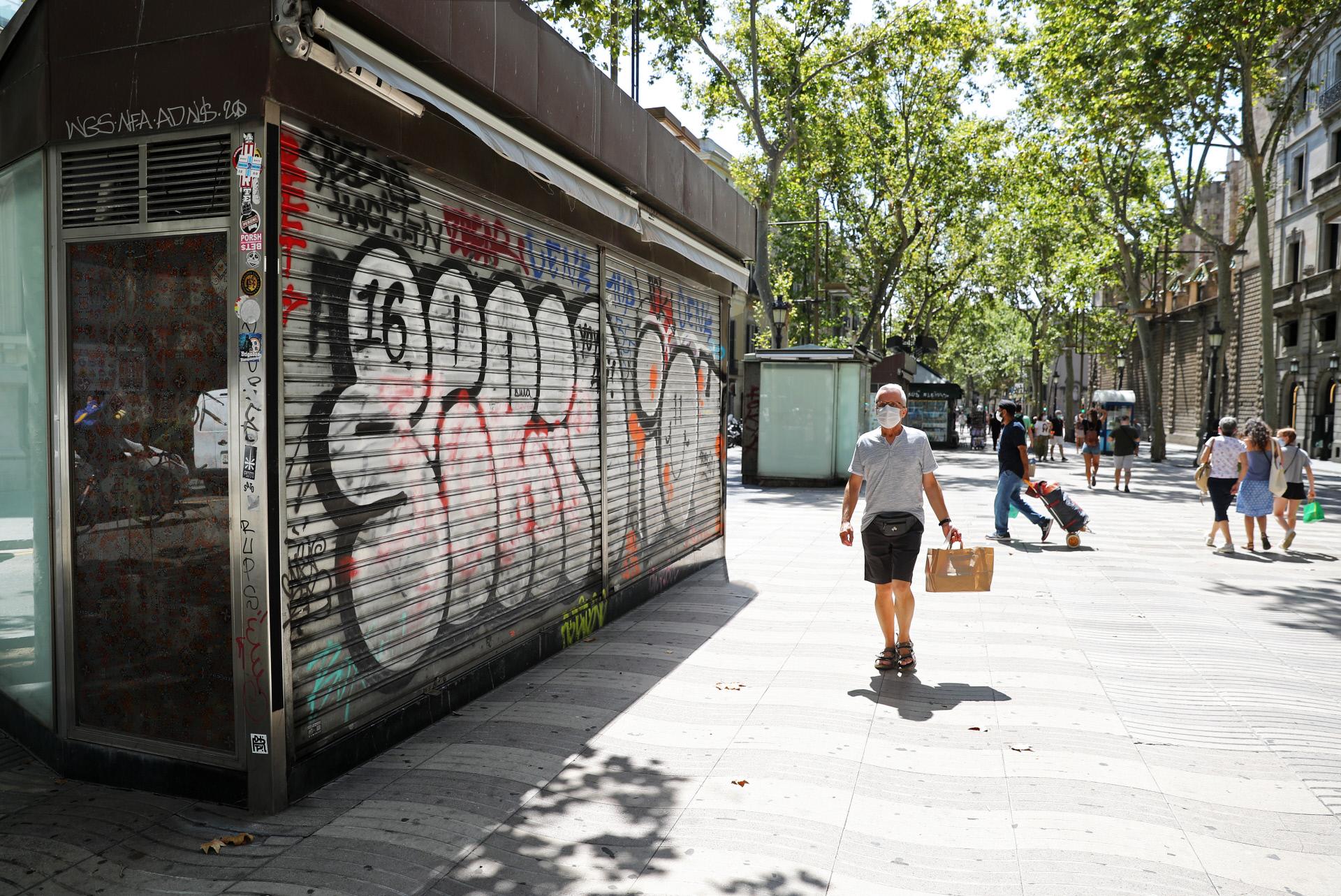Barcelona en agosto ante el covid-19 / Gtres