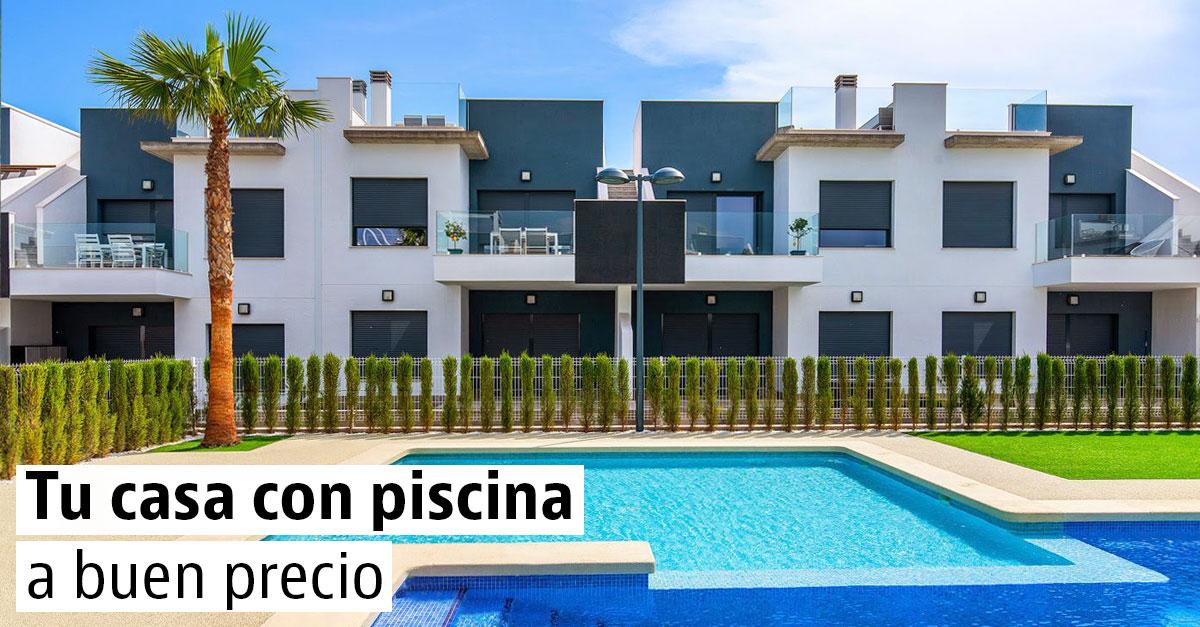 Casas con piscinas a buen precio en venta