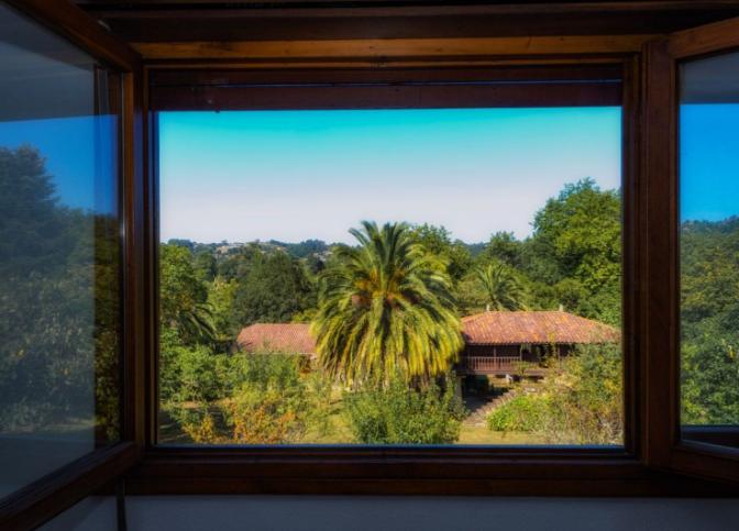 Las ventanas, de madera