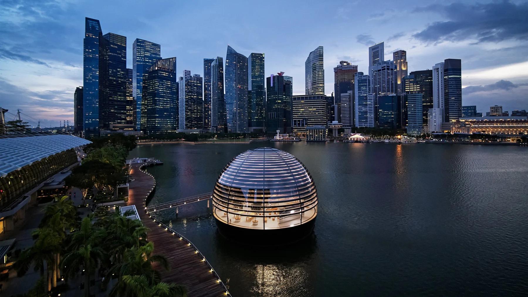 Apple Marina Bay Sands, Singapur, de Foster+Partners