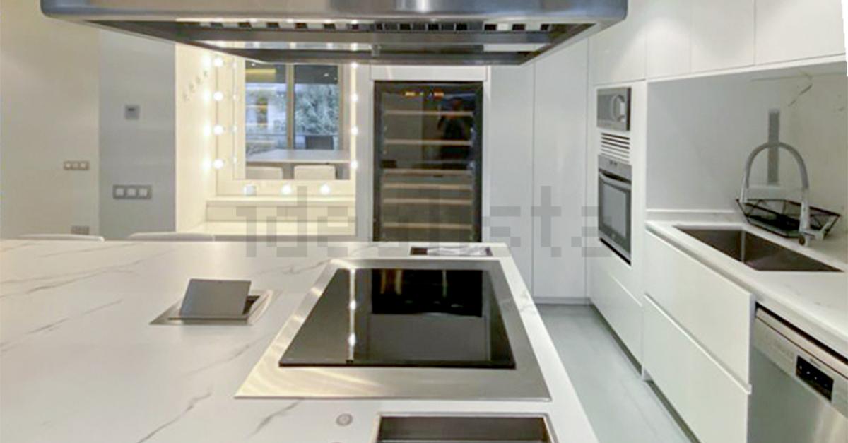 Un diseño moderno donde Muñóz preparaba su exquisitos platos