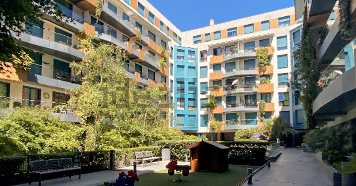 Una urbanización privada cerca del centro de Madrid