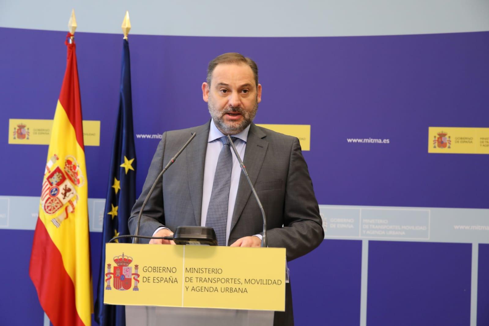 El ministro de Transportes, Movilidad y Agenda Urbana, José Luis Ábalos / Mitma