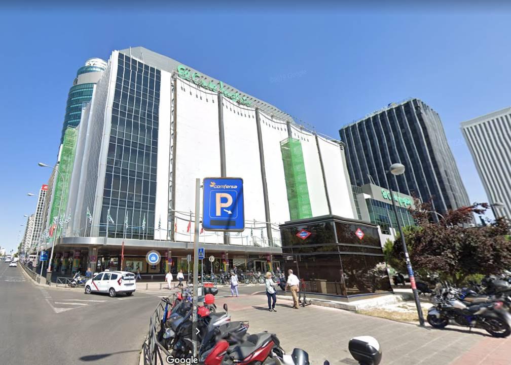 Imagen del centro comercial del Corte Inglés de Nuevos Ministerios (Madird) / Google Maps