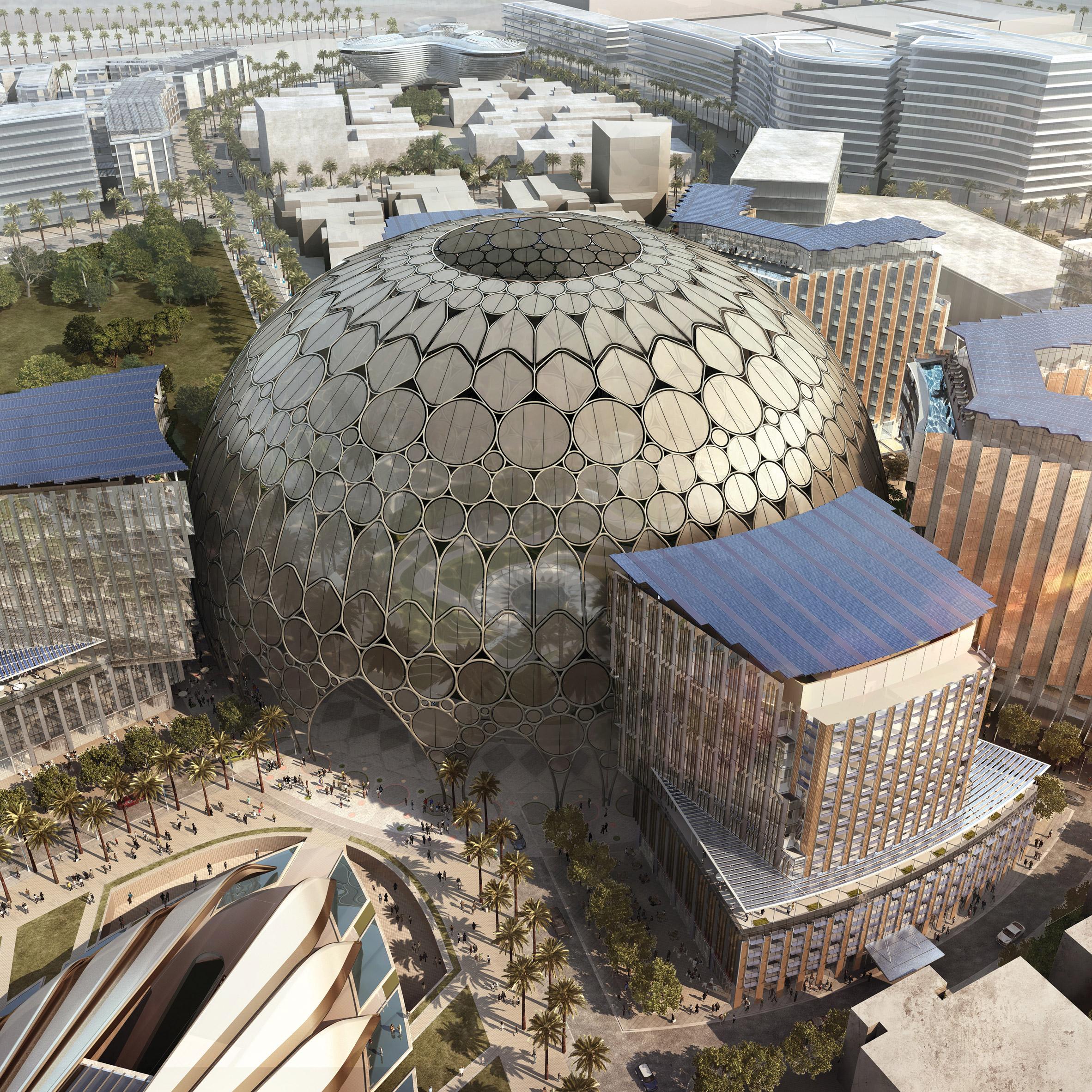 Plaza Al Wasl en la Expo 2020, Dubái, EAU, de Adrian Smith + Gordon Gill