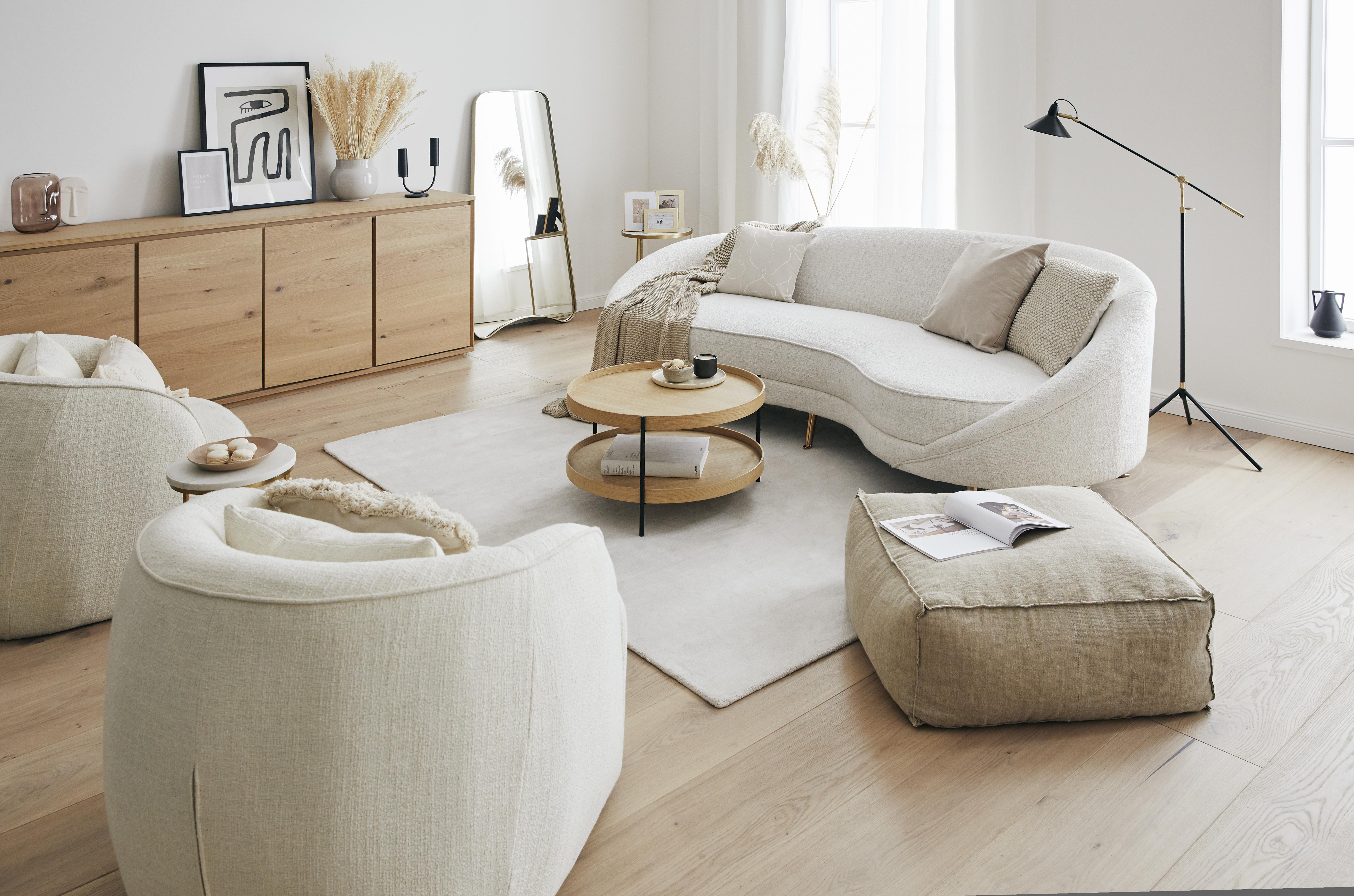 Muebles con bordes redondeados