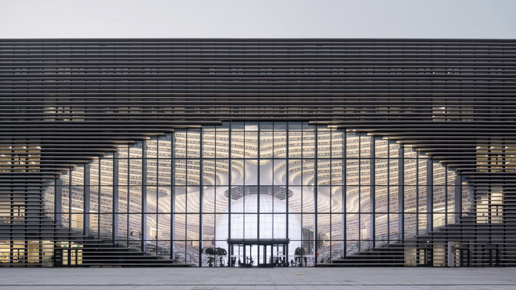 Biblioteca pública en Tianjin, China, de MVRDV