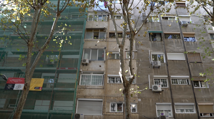 Edificio en rehabilitación en Barcelona