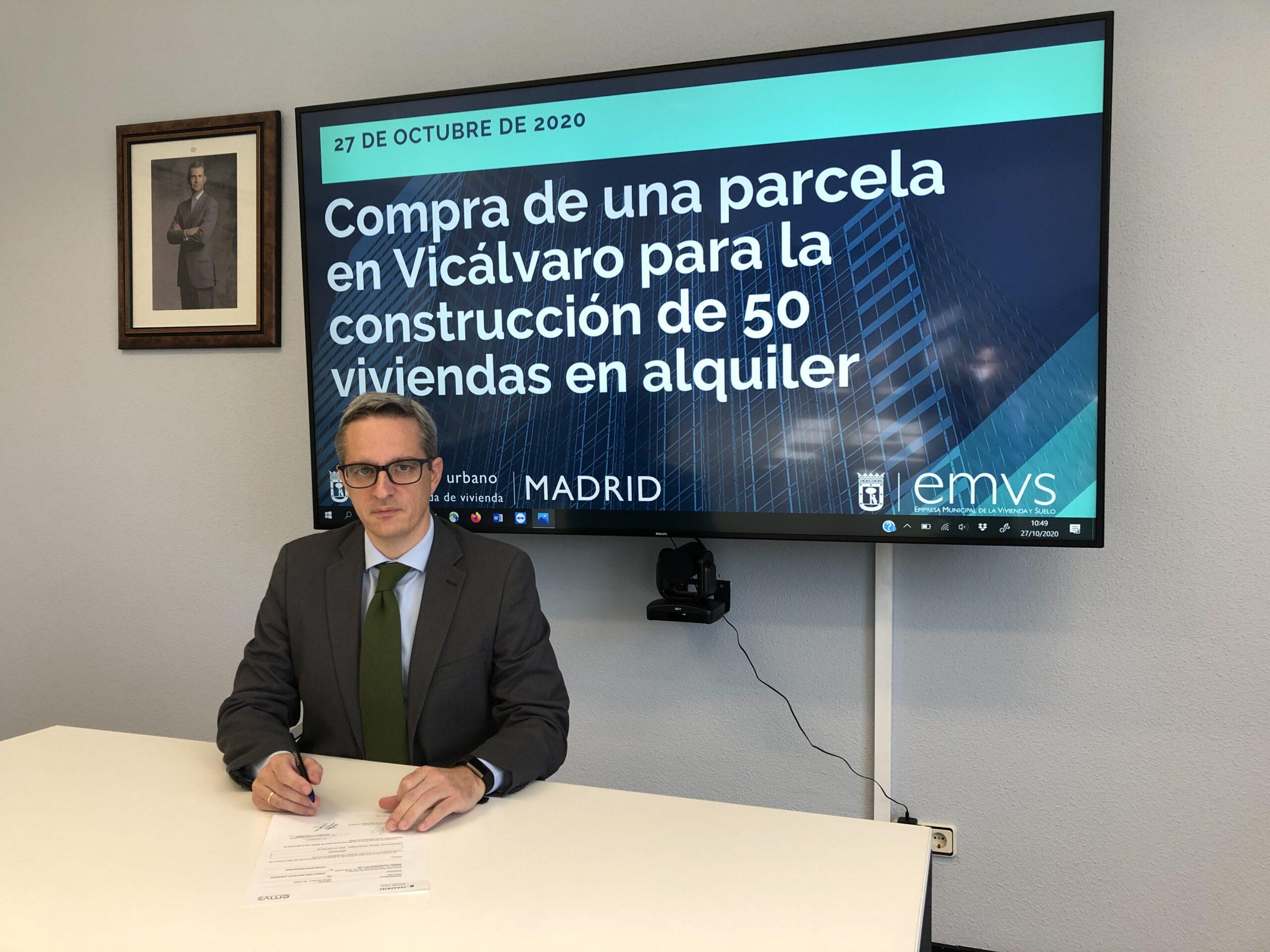 Diego Lozano, consejero delegado de la EMVS / Ayuntamiento de Madrid