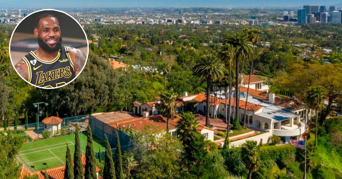 Vista aérea de la nueva casa de LeBron James / Realtor.com