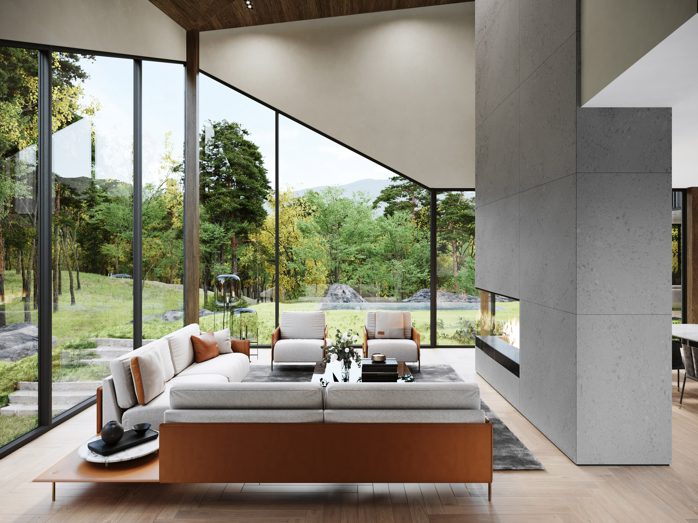 Salón / S3 Architecture/Corcoran Country Living
