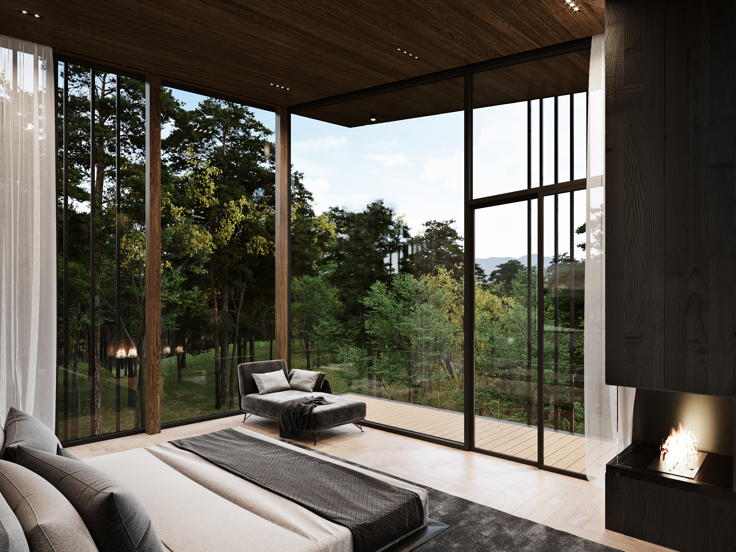 Dormitorio principal / S3 Architecture/Corcoran Country Living