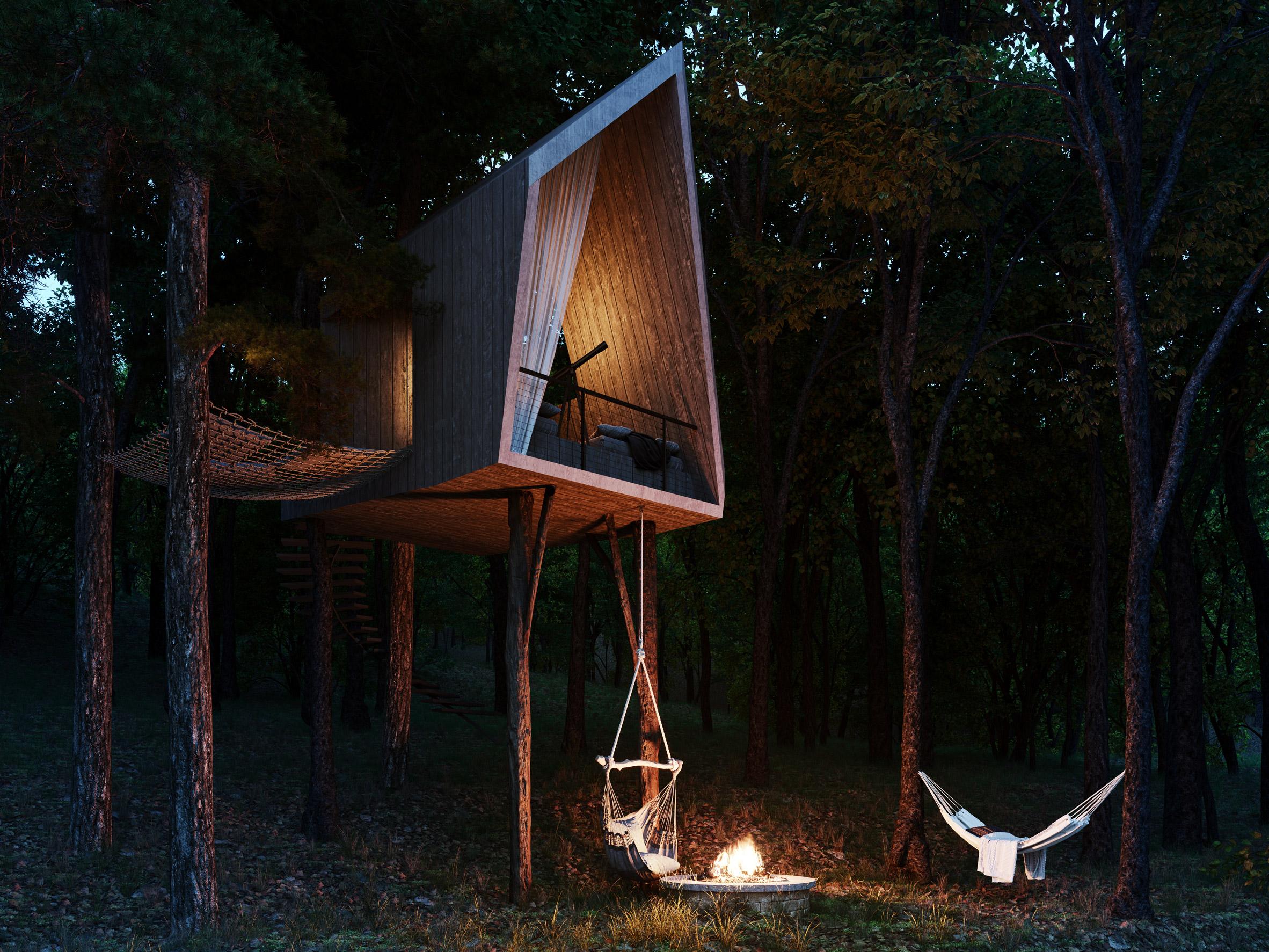 Diseño de la casa en árbol / S3 Architecture/Corcoran Country Living