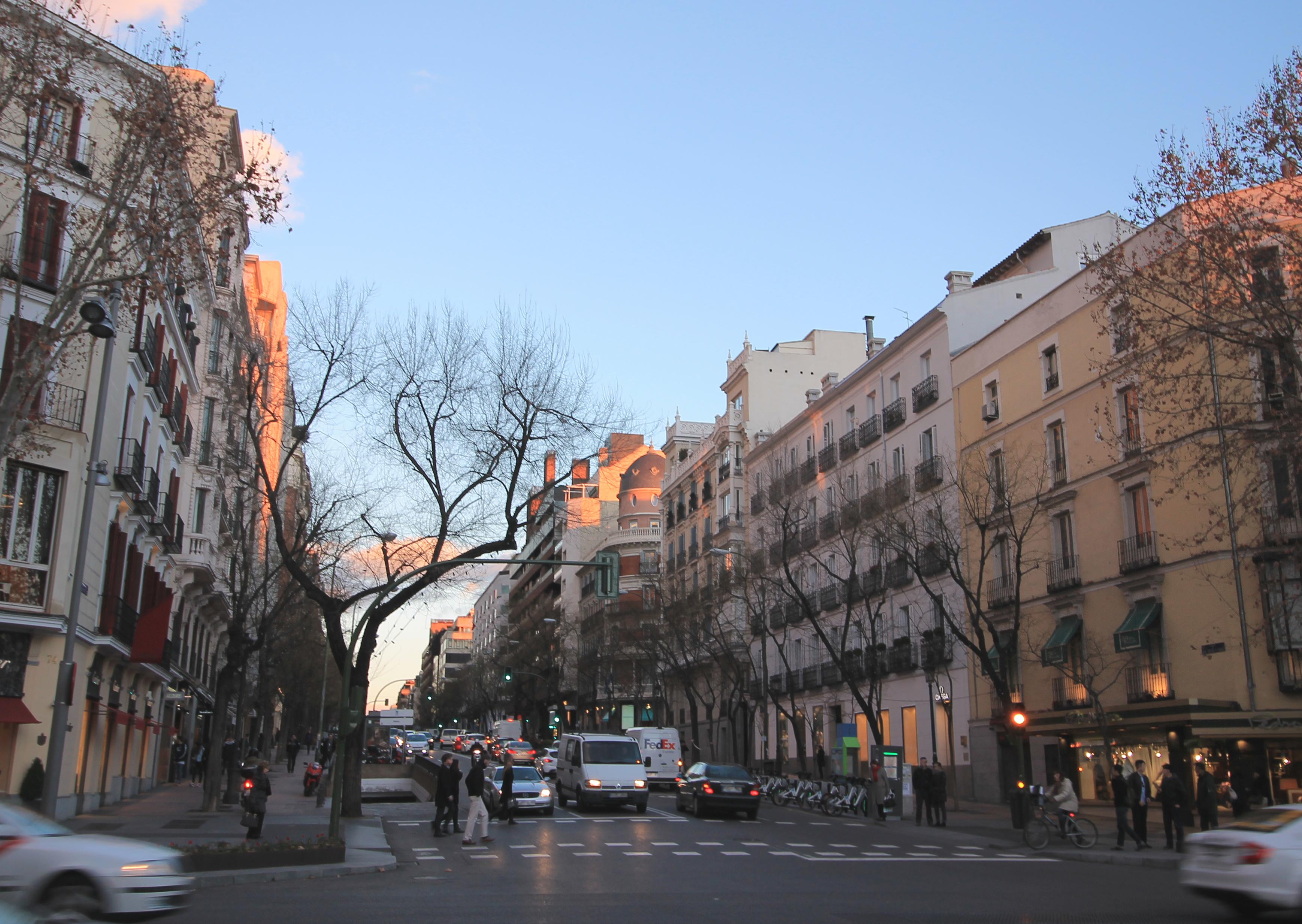 Imagen de la Calle Ortega y Gasset, donde Vastned pretende desinvertir / Wikimedia commons