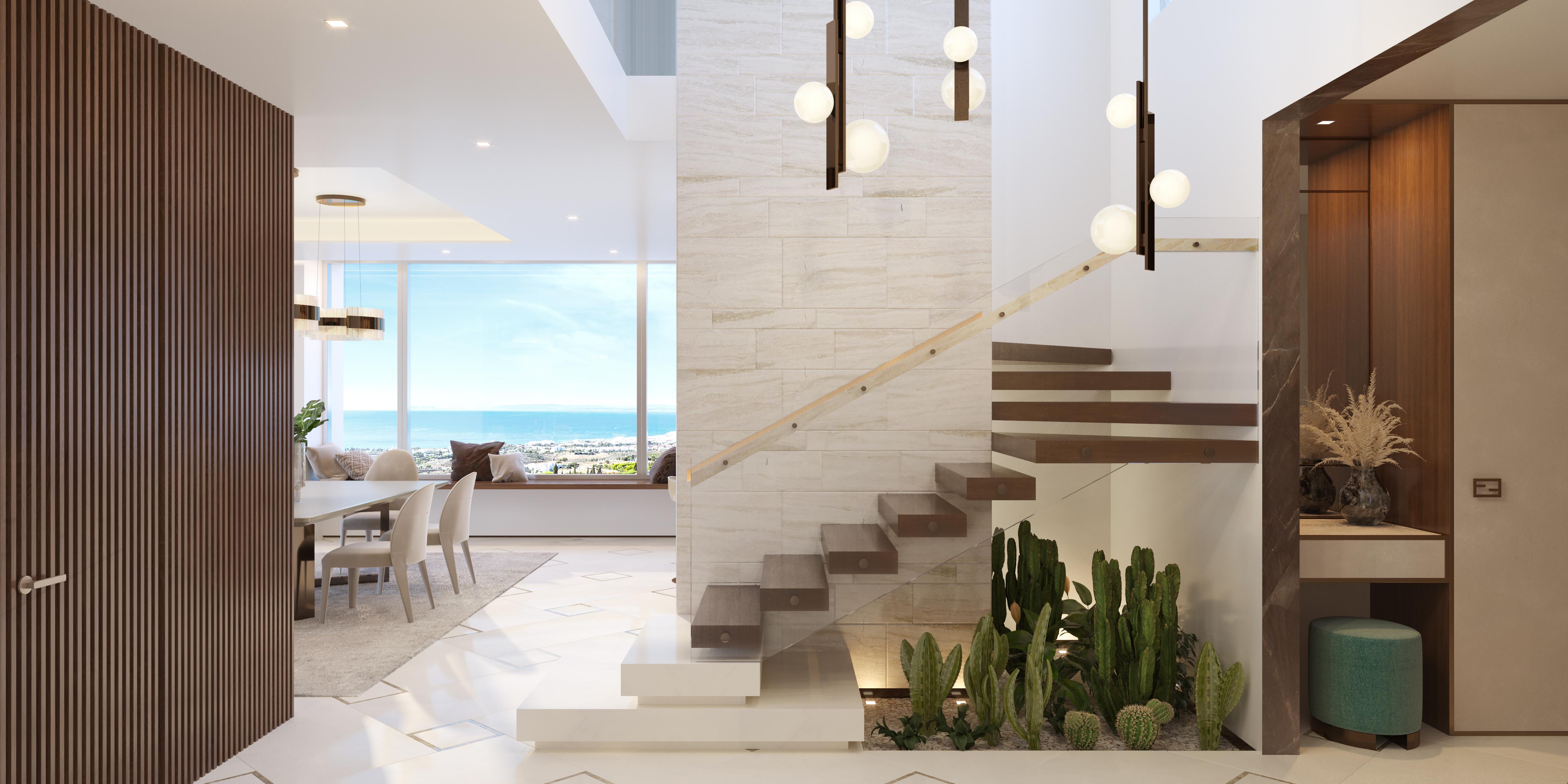 Con unas escaleras y una iluminación de diseño