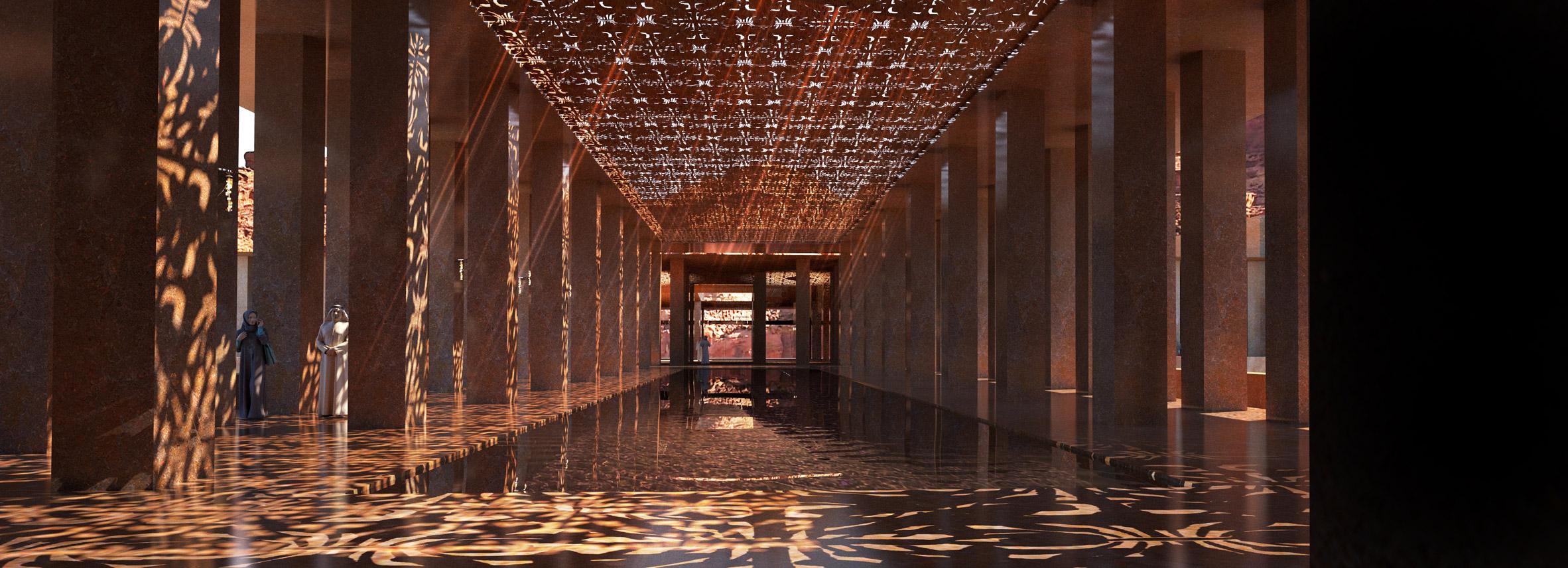 Entrada al hotel / Sharaan by Jean Nouvel hotel in Saudi Arabia