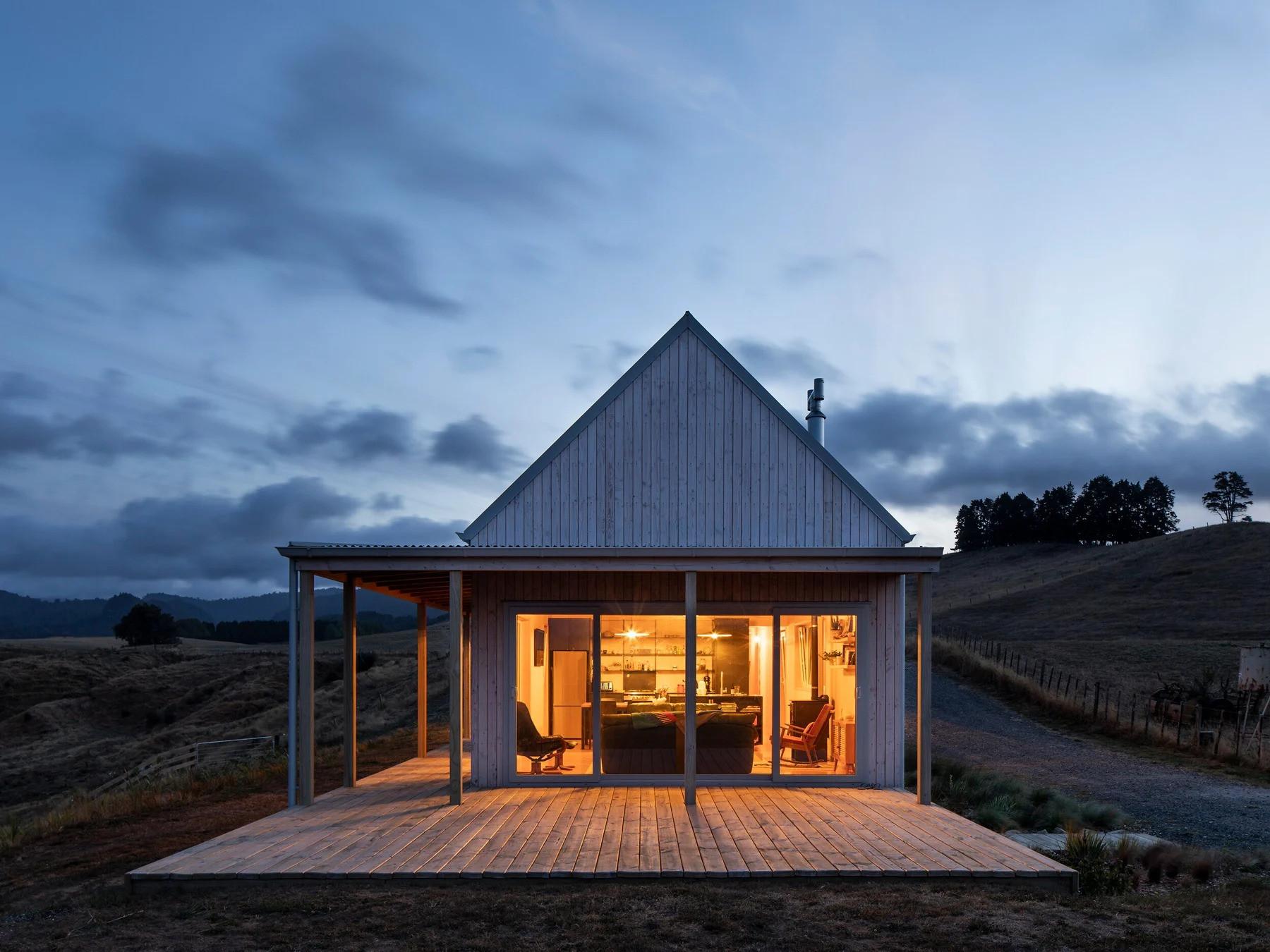Una casa prefabricada de madera en Nueva Zelanda que se monta en solo cuatro días