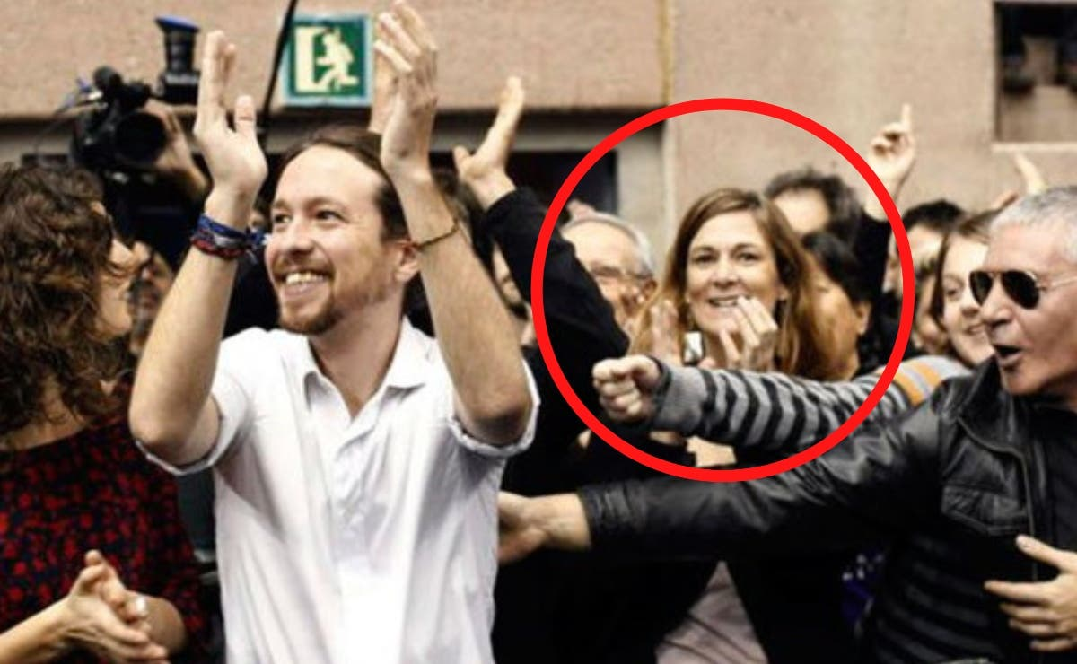 Gemma Galdón junto a Pablo Iglesias