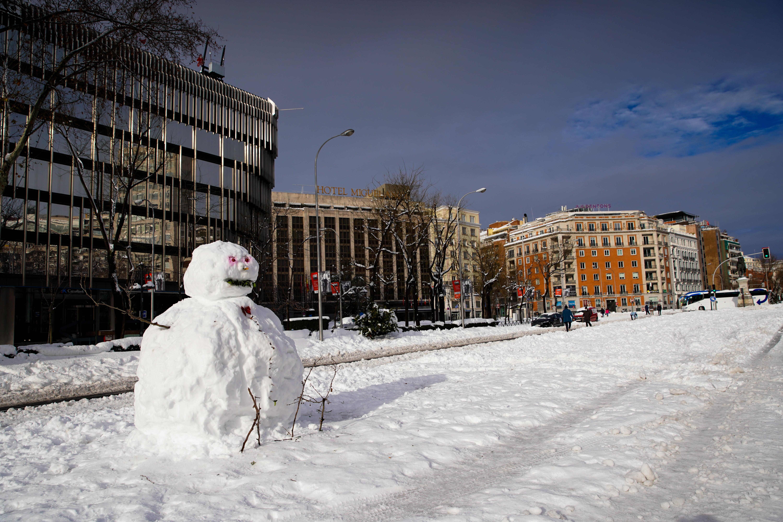Un muñeco de nieve en Gregorio Marañón