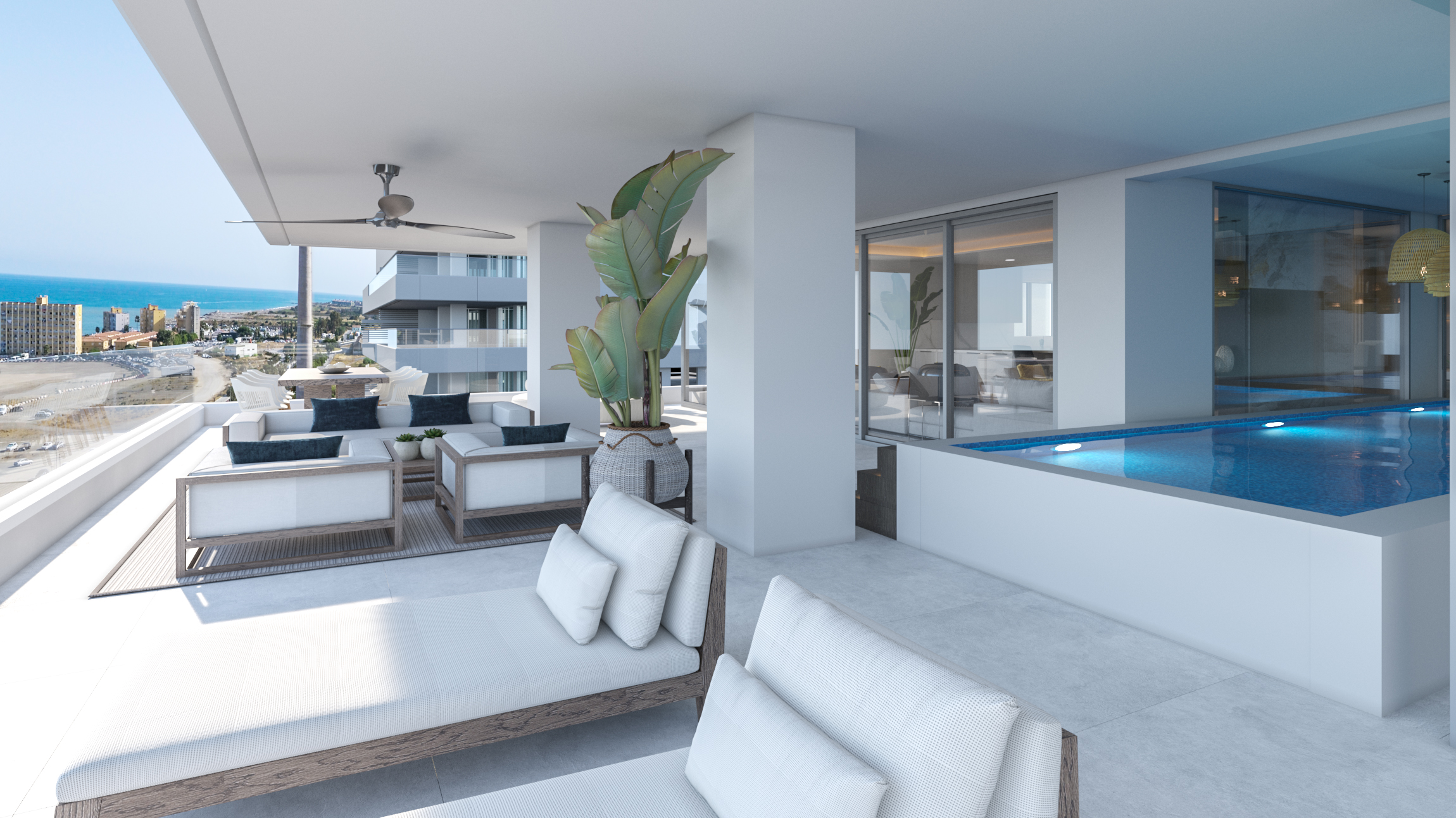 Todas las viviendas tienen vistas al mar