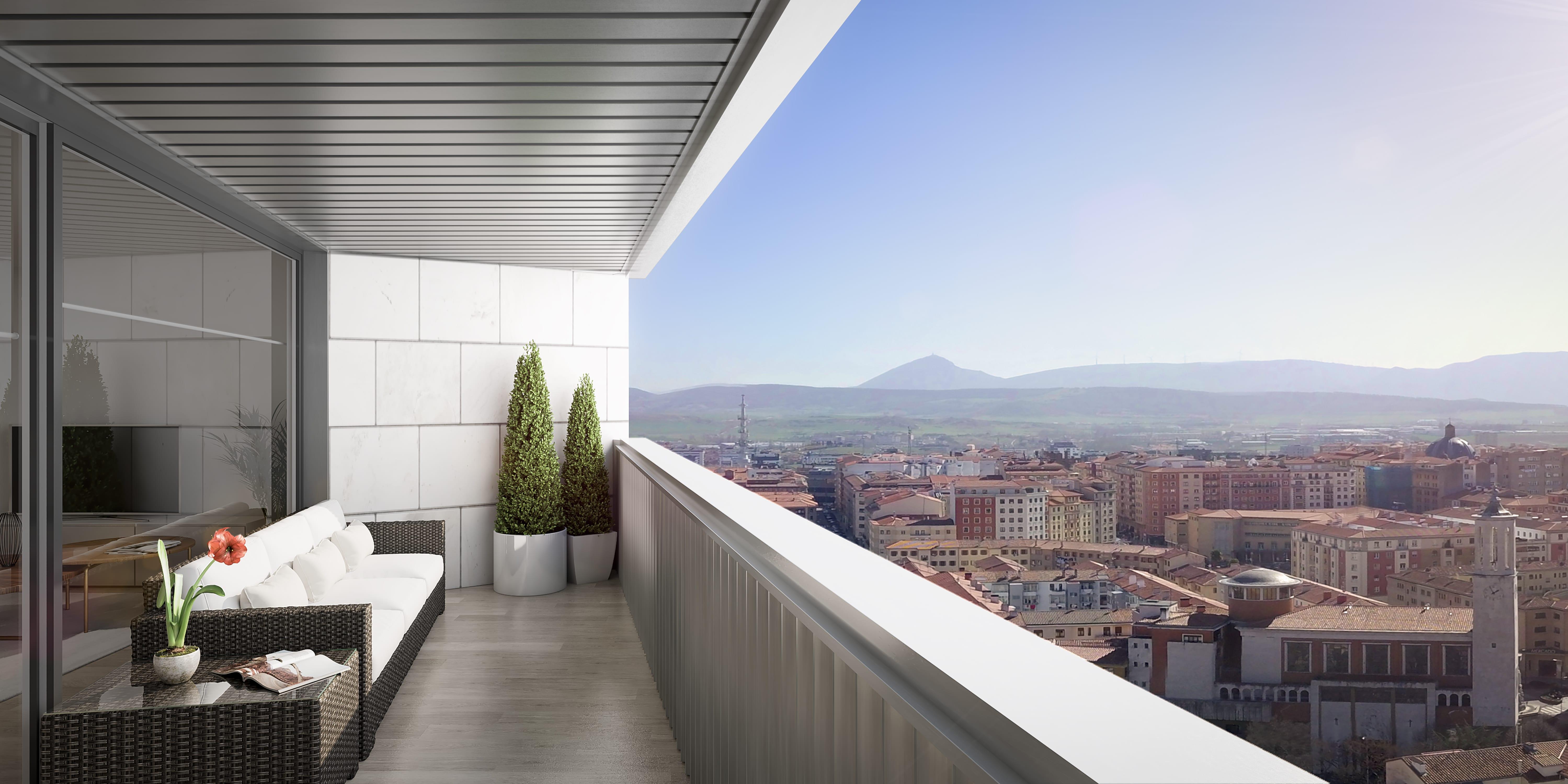Todas las viviendas tienen terraza acristalada