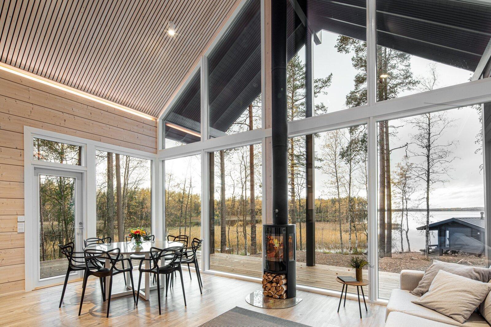 Unos grandes ventanales para disfrutar del entorno