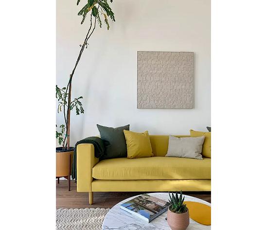 El sofá, el centro de atención de la estancia