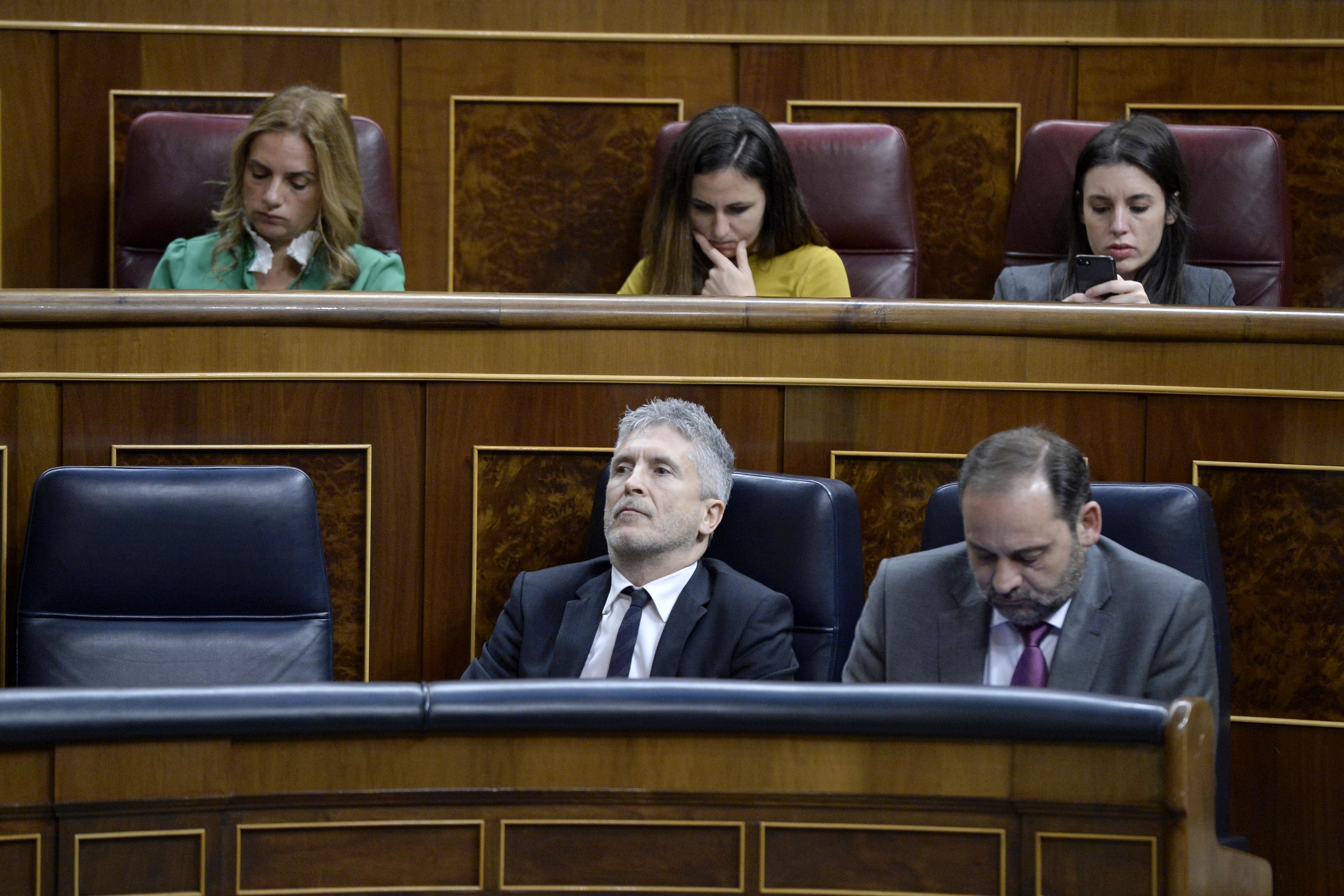 En la foto, Ione Belarra, actual secretaria de Estado de Agenda 2030, y José Luis Ábalos, ministro del Mitma / Gtres