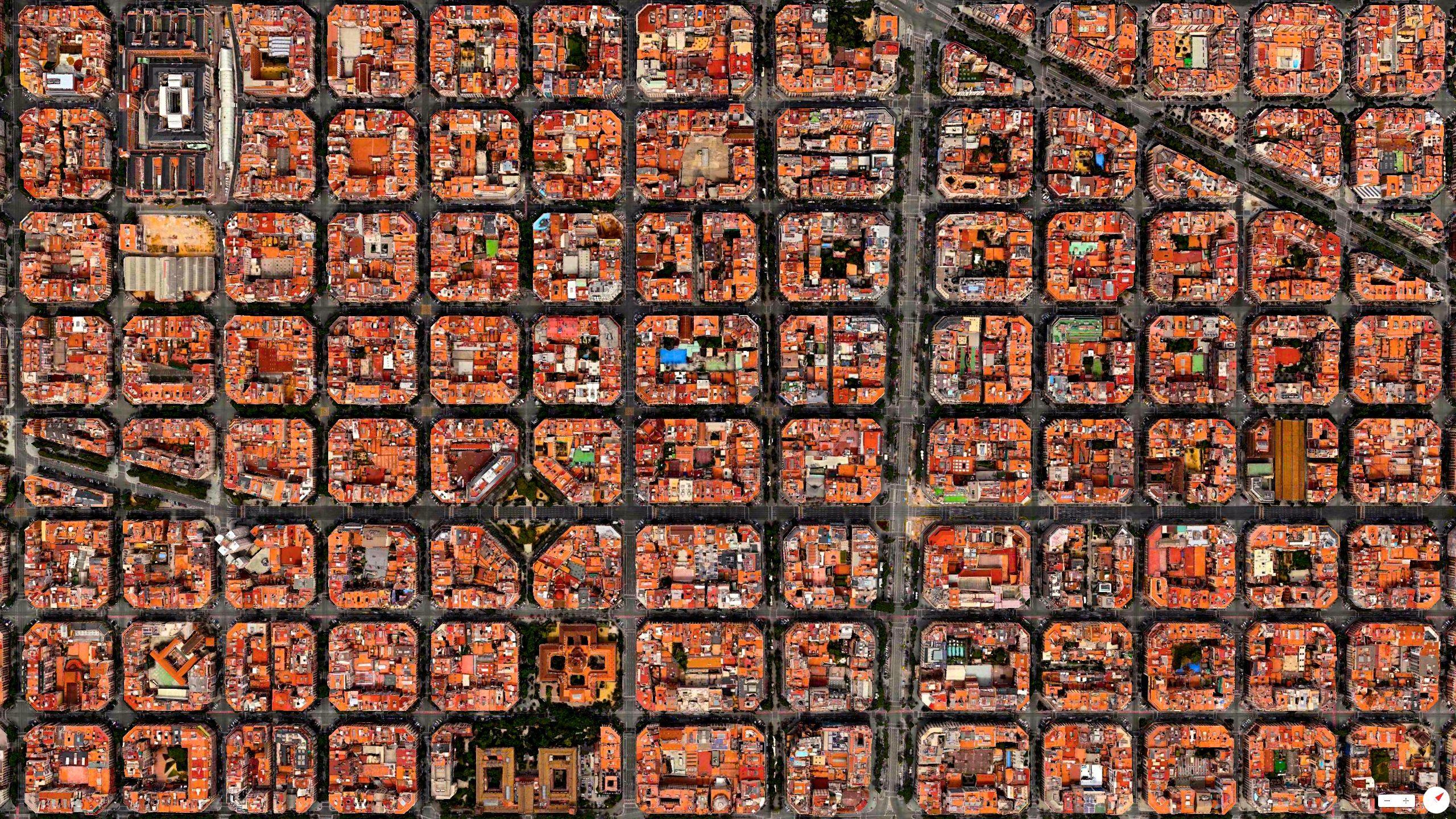 Vista aérea del Eixample