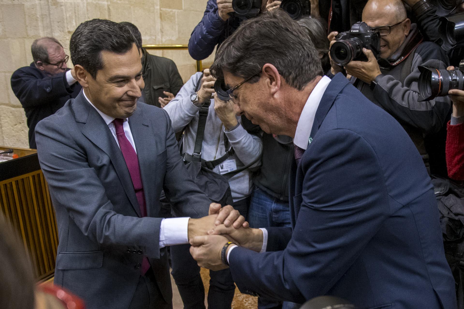 Juanma Moreno, presidente y Juan Marín, vicepresidente de Andalucía / Gtres