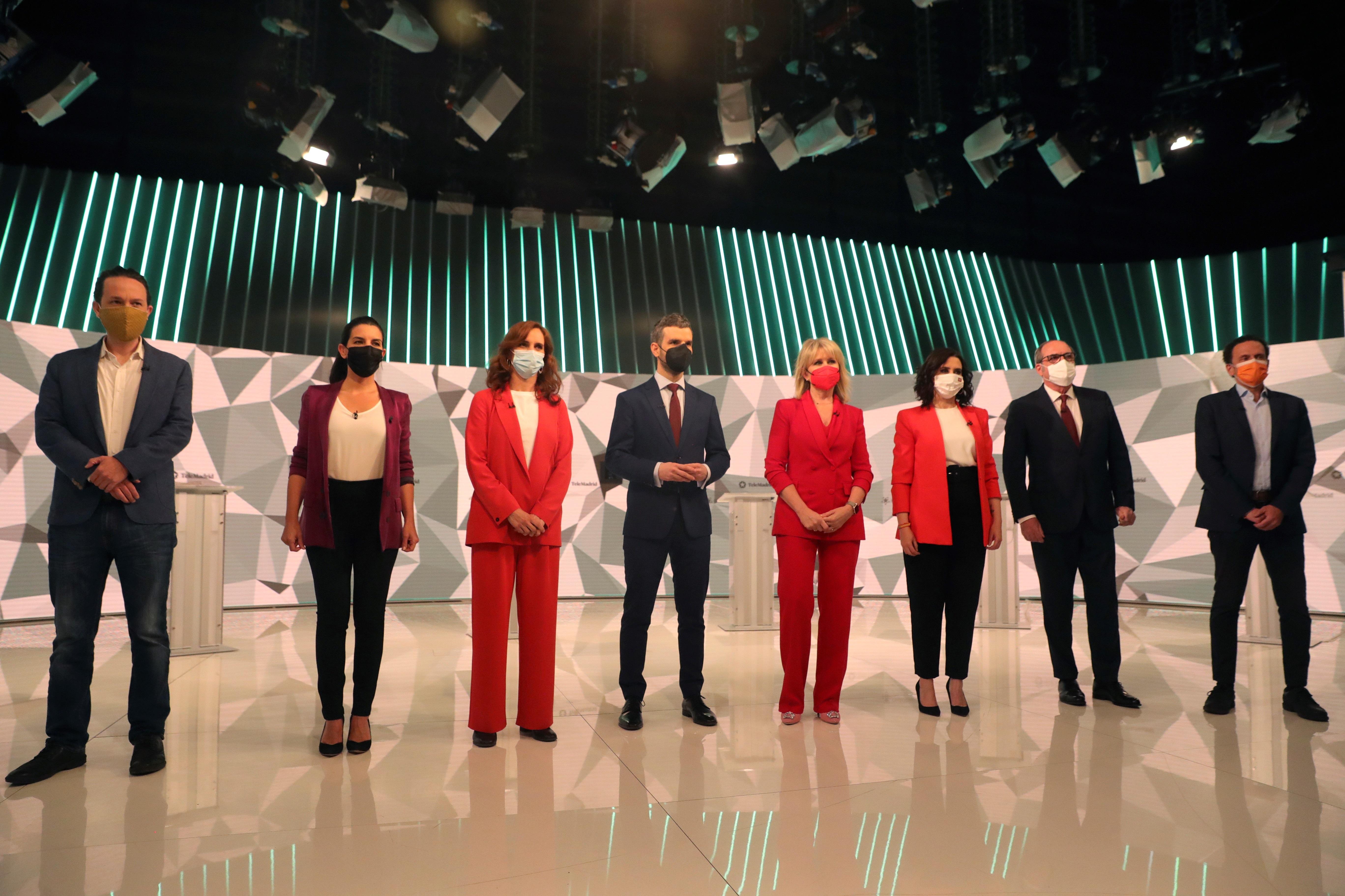 Los candidatos durante el único debate de campaña electoral / Gtres